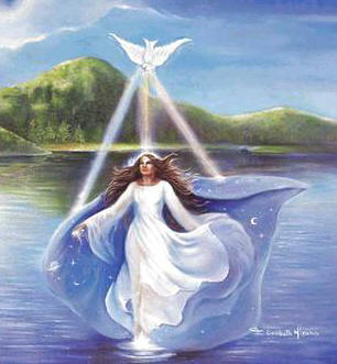 Iemanjá, a Mãe do Amor na cachoeira dos olhos