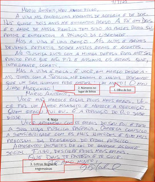 Análise da escrita do ex-governador Sergio Cabral
