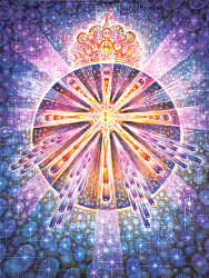 Coronary Chakra: The rose and the star in the lake of peace
